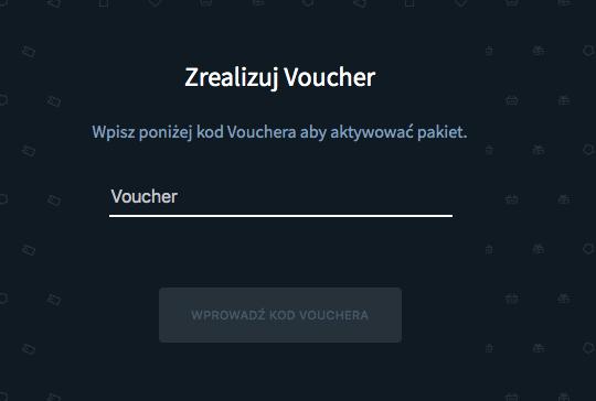 miejsce na voucher w player.pl