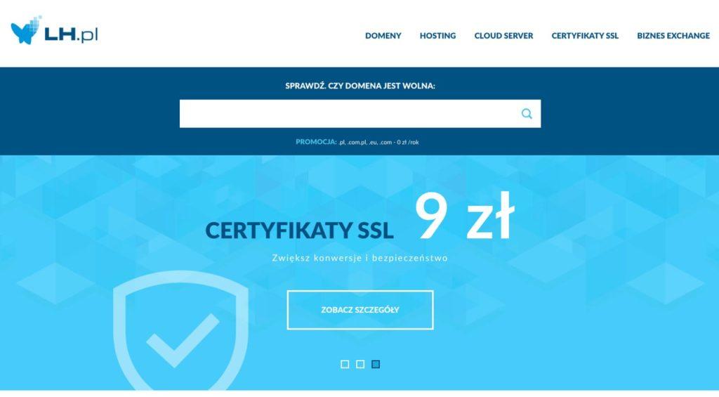 tani hosting stron www - LH.pl