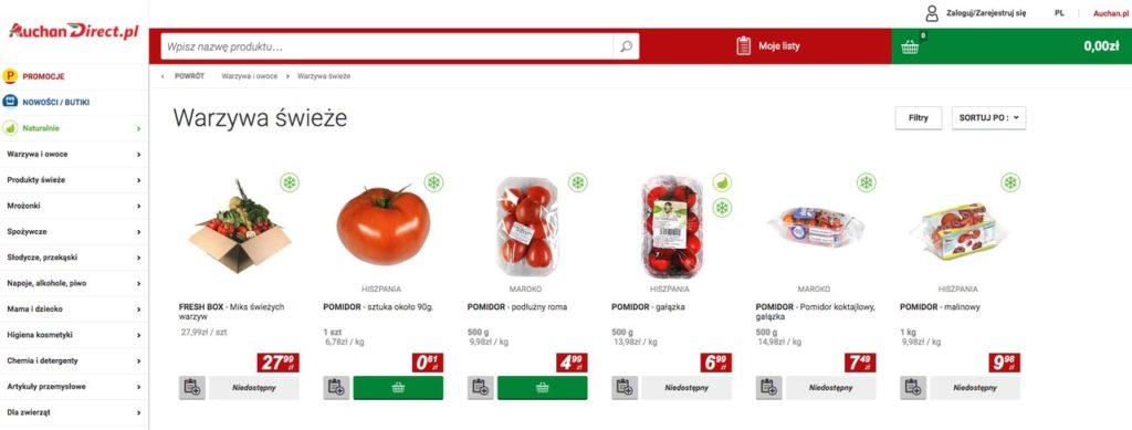 internetowy sklep spożywczy Auchan Direct