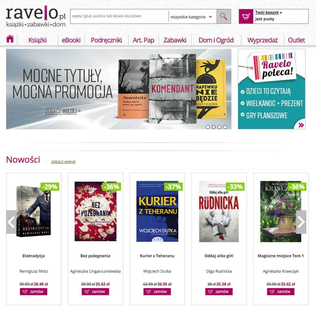 księgarnia internetowa Ravelo