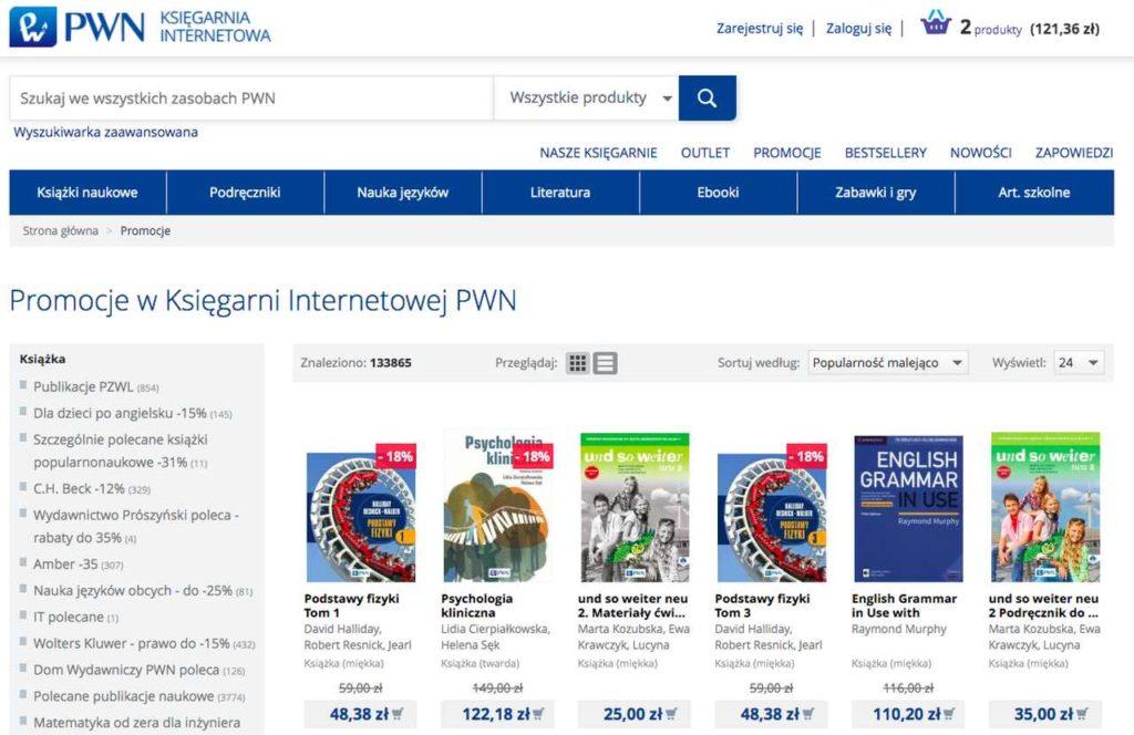 promocje w księgarni internetowej PWN