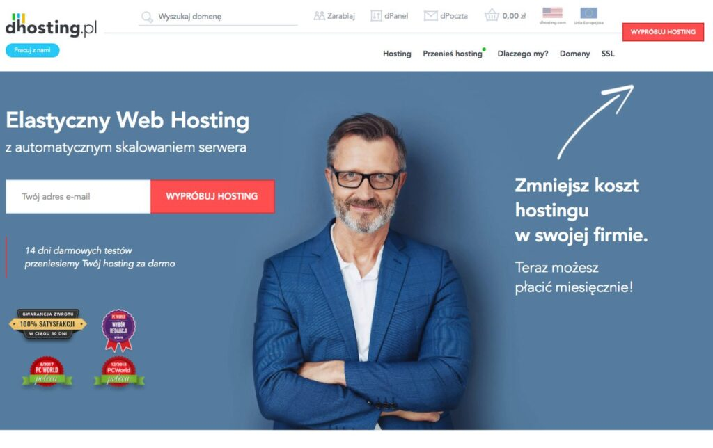 elastyczny web hosting w dhosting.pl