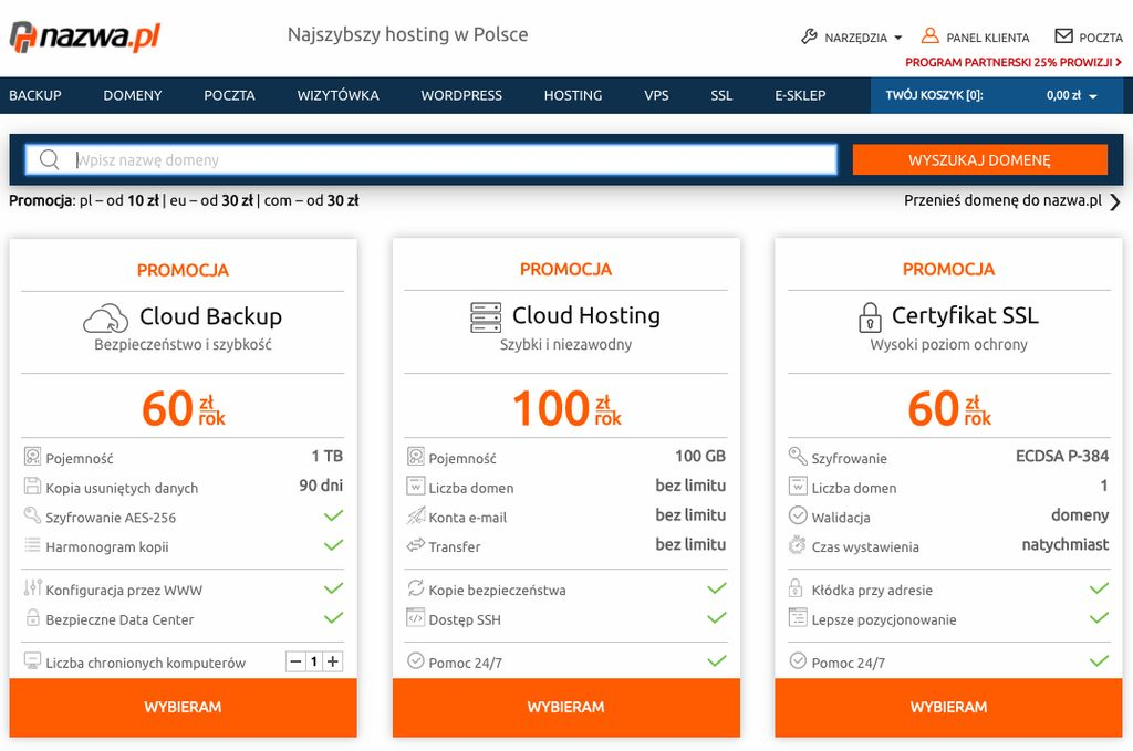 hosting i domeny w nazwa.pl