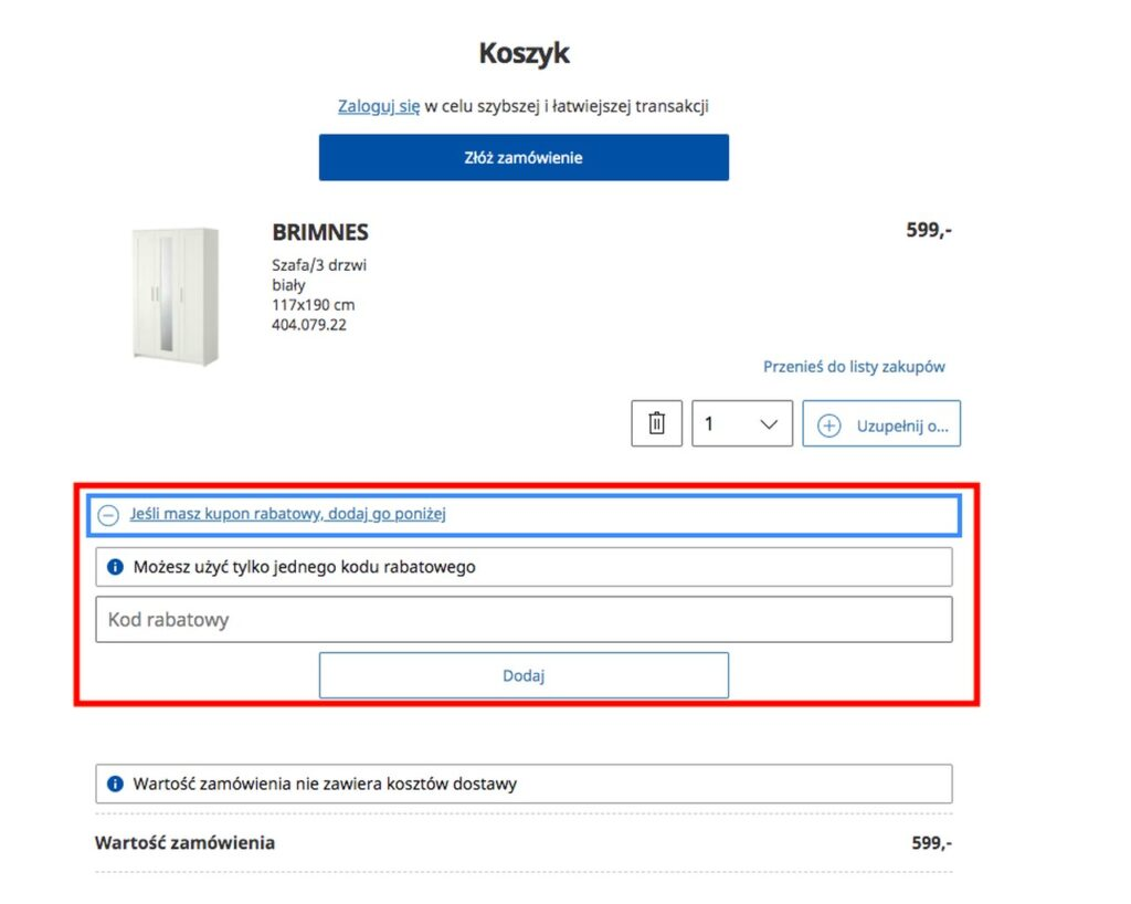 kod rabatowy IKEA