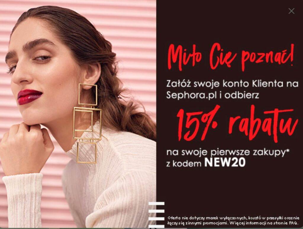 rabat -15% sephora.pl
