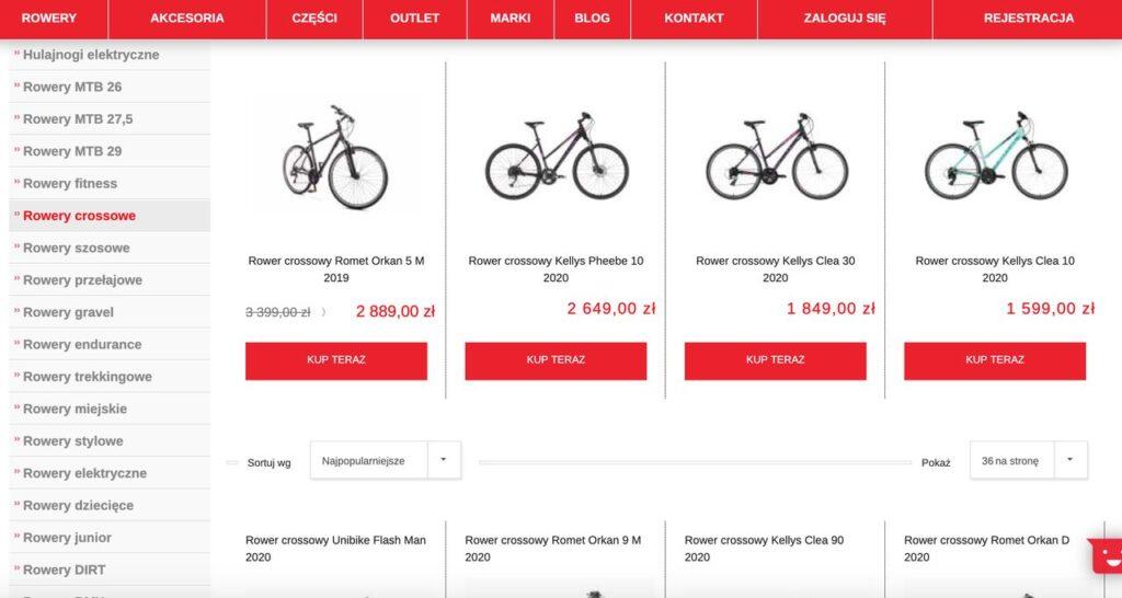 promocja na rowery crossowe rowerzysta.pl