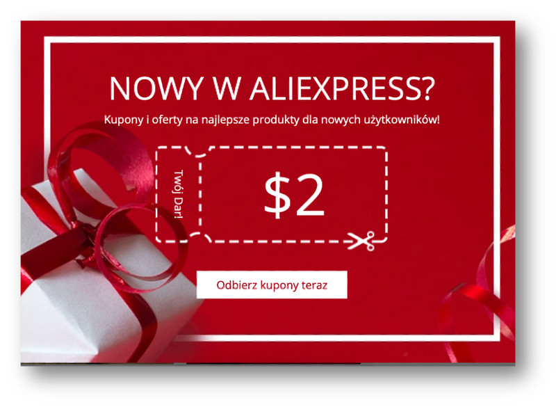 kupon dla nowych klientów aliexpress